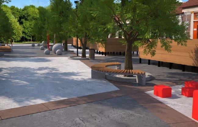 Bašta ČIKOŠA dobija fontanu, šahovske stolove, bubnjeve za decu, štampani beton, LED osvetljenje,... Pogledajte kako bi trebalo da izgleda! 2